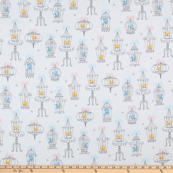 Michael Miller Fabrics Carry a Tune Sing Along White