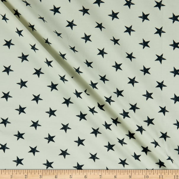 Fabtrends French Terry Star White