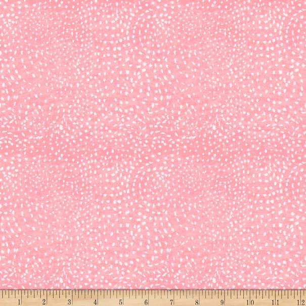 Clothworks Sunday Afternoon Dots Coral