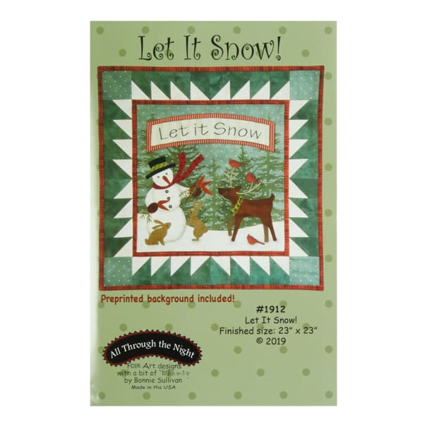 All Through The Night Let It Snow Wall Hanging Pattern By Bonnie Sullivan