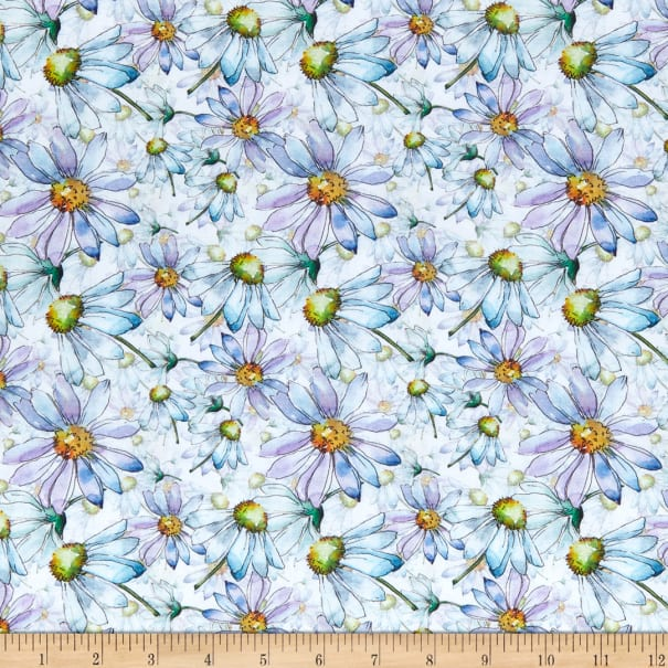 In The Beginning Digital The Leah Collection Daisies White