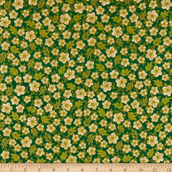 Kanvas Metallic Ode to Joy Ode to Joy Flowers Green