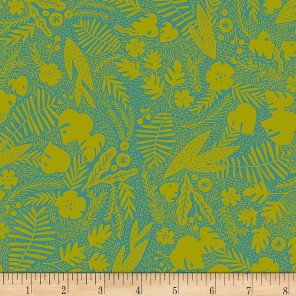 EXCLUSIVE Kaufman Hello Lucky! Lawns Tonal Leaves Fern