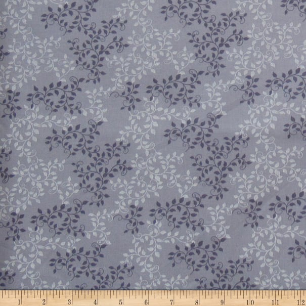 """108"""" Extra-Wide 100% Cotton Leaves Concord"""