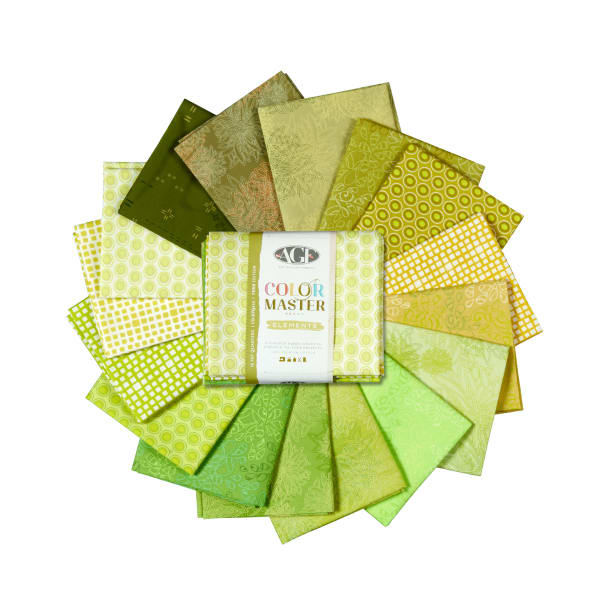 Art Gallery Color Master Elements 16 pc Fat Quarters Fern Edition