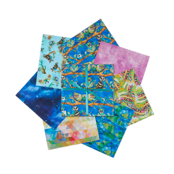 """3 Wishes Go Owl Out 10"""" Squares 21 Pcs. Multi"""