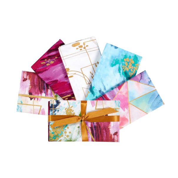 3 Wishes Metallic Fusion Fat Quarter Bundle 5Pcs Bright