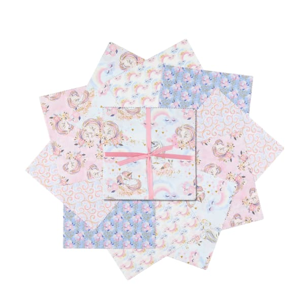 "3 Wishes Unicorn Utopia 10"" Squares 20Pcs Glitter Multi"