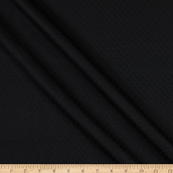 Italian Designer Wool Jacquard Suiting Black