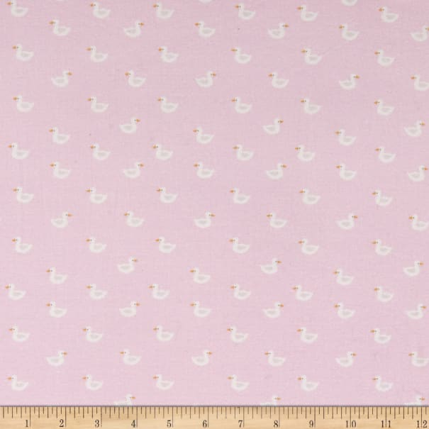 E.Z. Fabric Exclusive Polyester Jersey Knit Ducks Pink