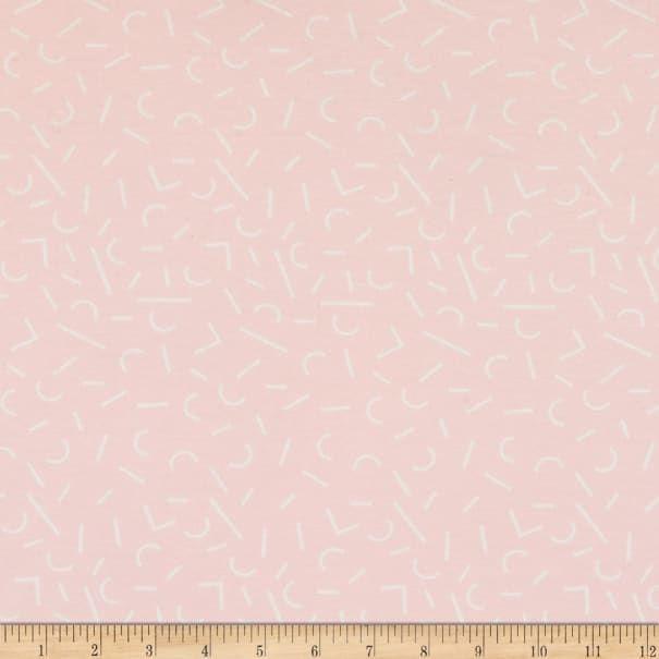 E.Z. Fabric Exclusive Polyester Jersey Knit Ice Cream Sprinkle Pink