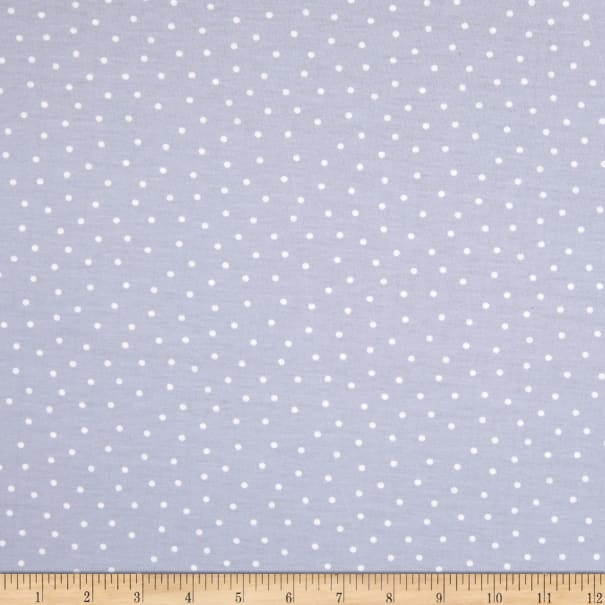 E.Z. Fabric Exclusive Polyester Jersey Knit Snow Falls Light Blue
