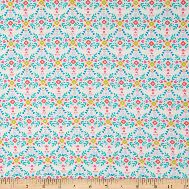 E.Z. Fabric Exclusive Polyester Jersey Knit Ditsy Floral Multi