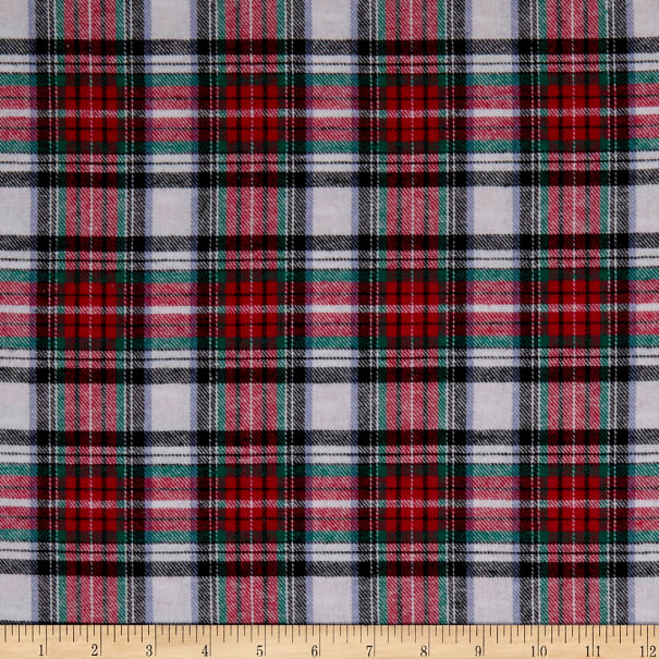 Yarn Dyed Flannel Plaid Red/White/Black
