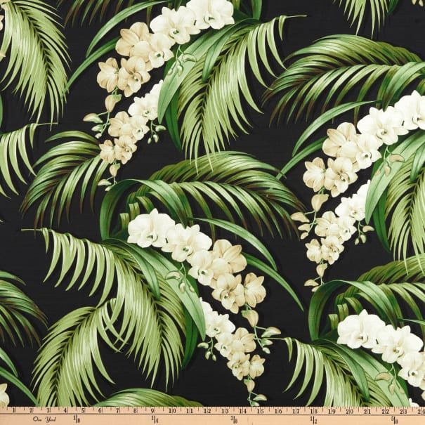Tommy Bahama Home Digital Orchid Haven Caviar