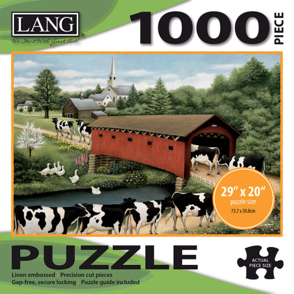 "Jigsaw Puzzle 1000 Pieces 29""X20""-Cows Cows Cows"