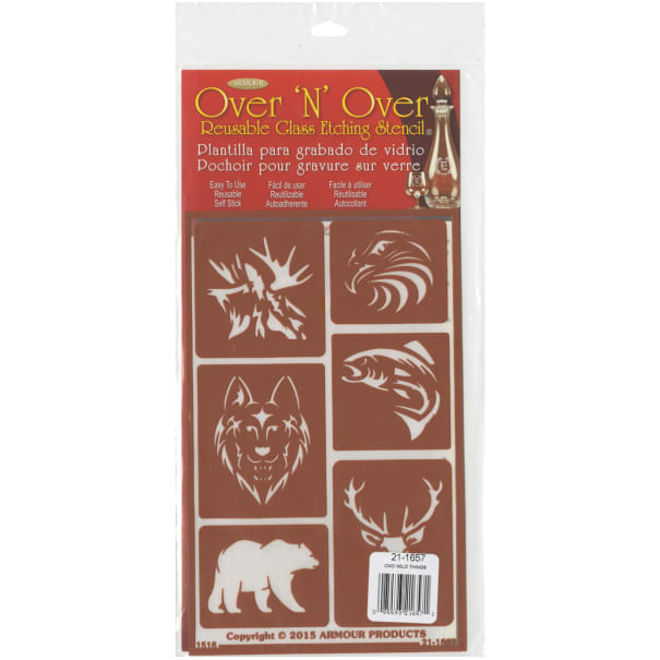 """Over 'N' Over Reusable Stencils 5""""X8""""-Wild Things"""