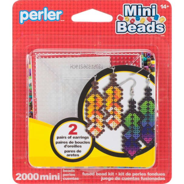 Perler Mini Fused Bead Kit-Earrings