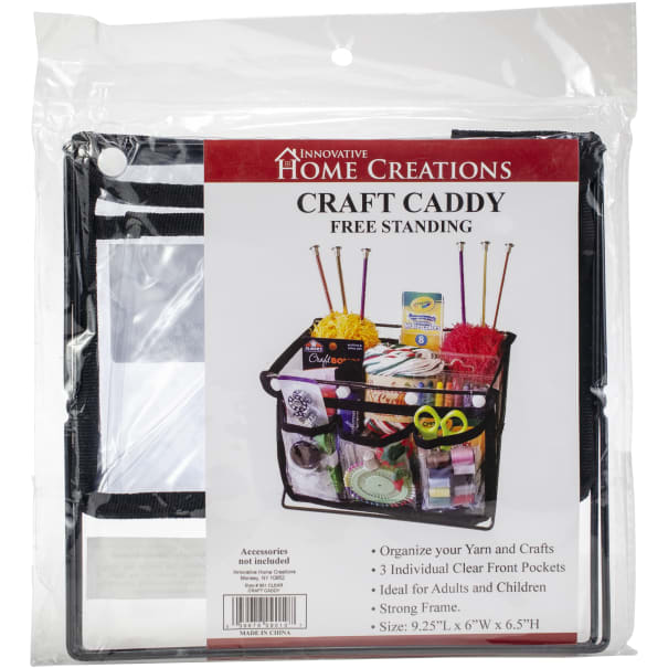 """Innovative Home Creations Free Standing Caddy 9.5""""X6.5""""X6.0""""-W/3 Pockets"""