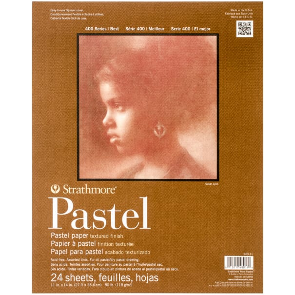 """Strathmore Assorted Color Pastel Paper Pad 11""""X14""""-24 Sheets"""