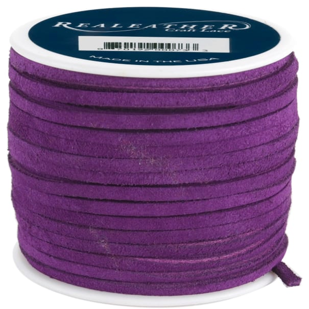 """Realeather Crafts Suede Lace .125""""X25yd Spool-Royal Purple"""