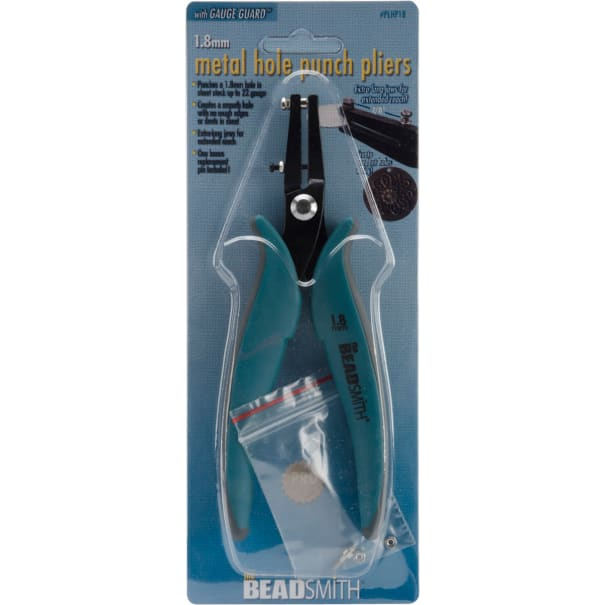 """Metal Hole Punch Pliers W/Guage Guard-1.8mm (.0714"""")"""