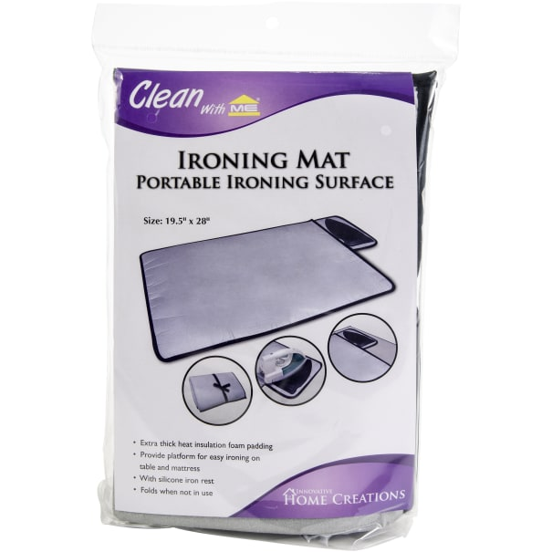"""Innovative Home Creations Ironing Mat W/Silicone Pad-19.5""""X28"""""""