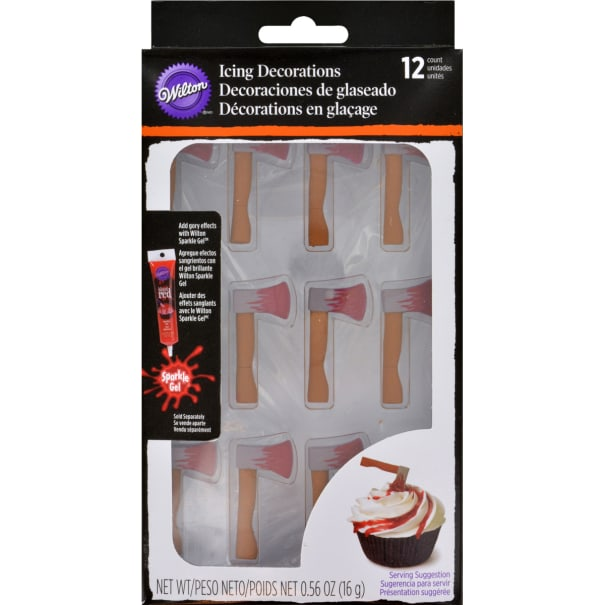 Icing Decorations 12/Pkg-Bloody Axe