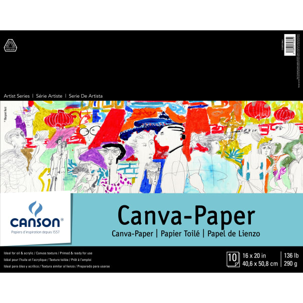 """Canson Foundation Series Canva-Paper Pad 16""""X20""""-10 Sheets"""