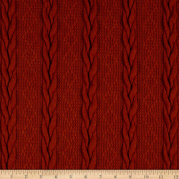 Telio Carson CableStretch Knit Pumpkin