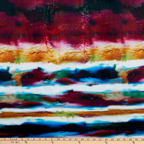 E.Z. Fabric Minky Painted Sunset Sky Red