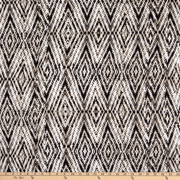 Fabtrends Wool Dobby Chiffon Ikat Biadere Taupe