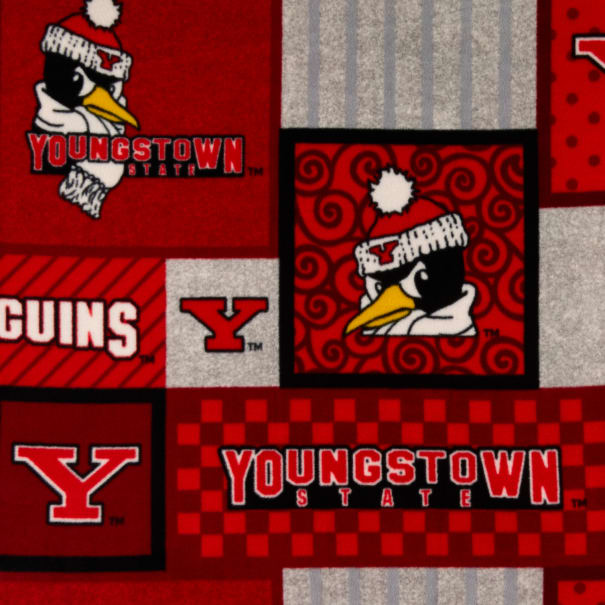 NCAA Youngstown State Penguins College Patch Fleece Multi