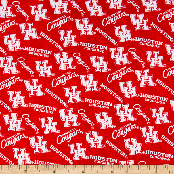 Team Colors FANMATS NCAA Houston Cougars Die-CutState Shape One Size
