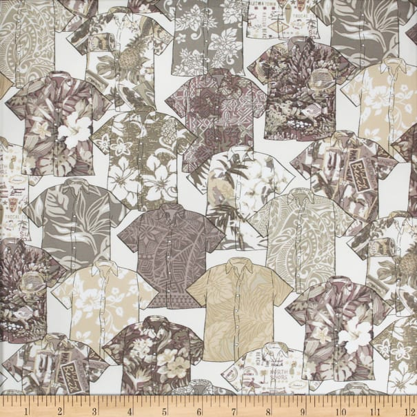 Trans-Pacific Textiles Spread the Aloha Shirts Charcoal