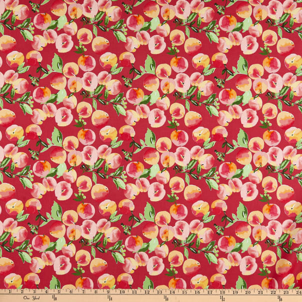 Riley Blake Glohaven Peaches Red
