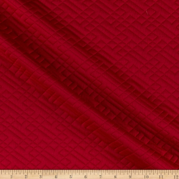 Telio Quilted Stretch Knit Red