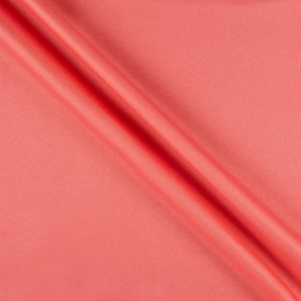 Polyester Twill Solid Coral