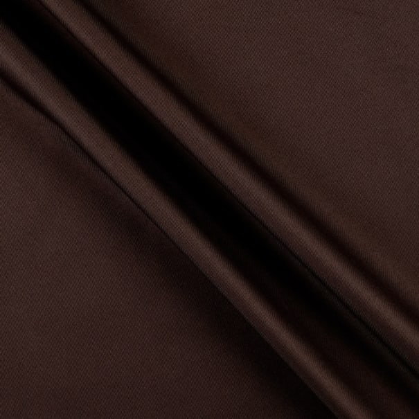 Polyester Twill Solid Brown