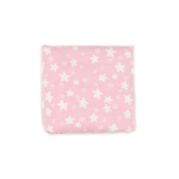 """Exclusive Fabric Editions 36"""" x 42"""" Pre-Cut Good Night Stars Pink Flannel"""