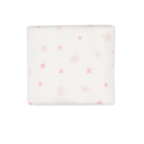 """Exclusive Fabric Editions 36"""" x 42"""" Pre-Cut Good Night Stars Flannel Pink"""