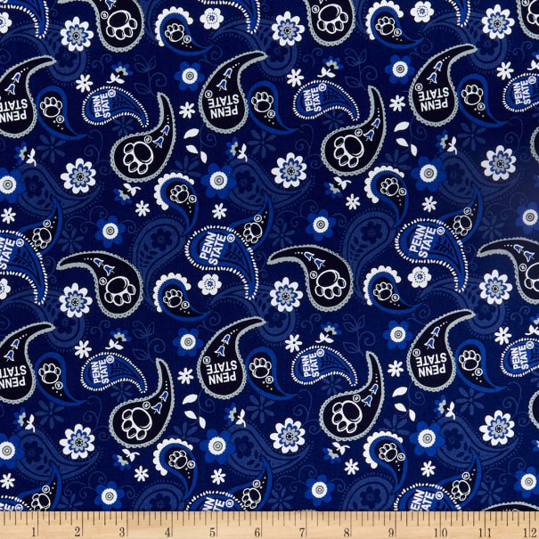 NCAA Penn State Nittany Lions Cotton Paisley Multi