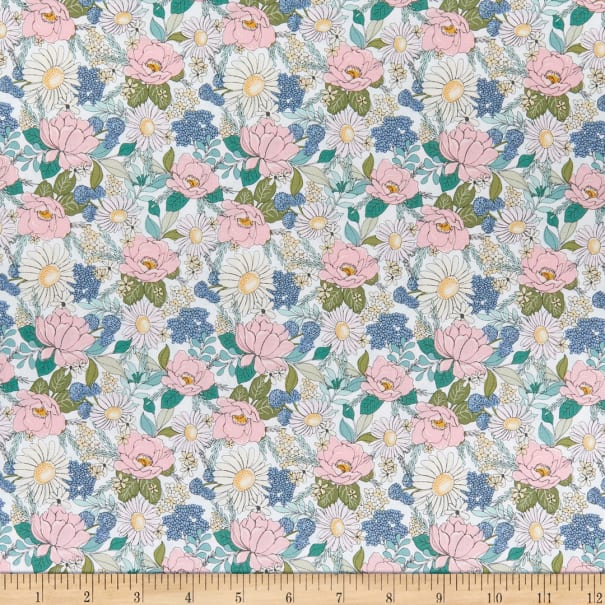 Country Roads Collection Almost Heaven White Yardage for Poppie Cotton~100/% Cotton #CR20153
