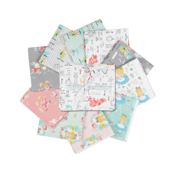 Alice in Wonderland II Fat Quarter Bundle 10 Pcs. Multi