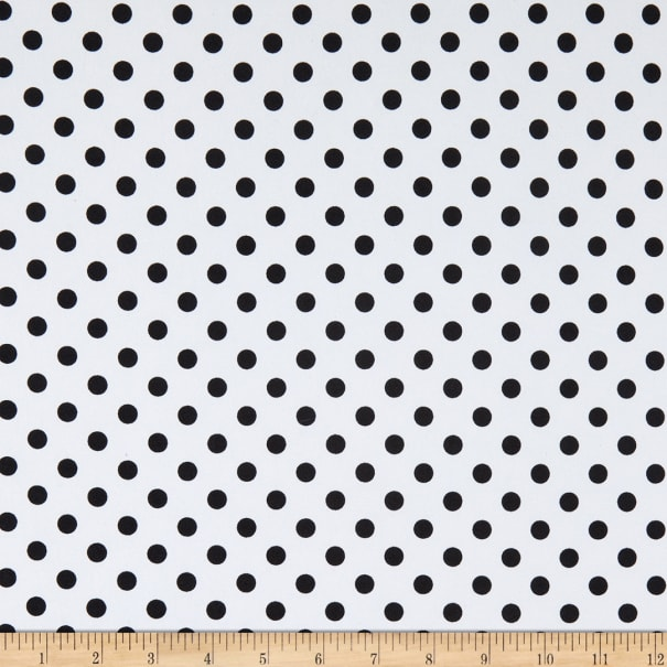 Fabric Merchants ITY Jersey Knit Small Polka Dot White/Black
