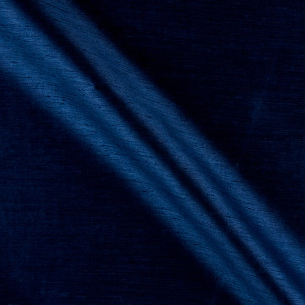 "117"" 3.25 Oz Faux Shantung Silk Navy"