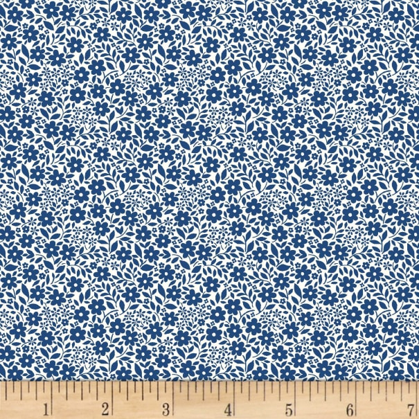 Michael Miller Fabrics Country Cottage Sweet Nothings Navy