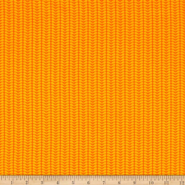 Contempo Planted With Love Tonal Sprout Stripe Orange