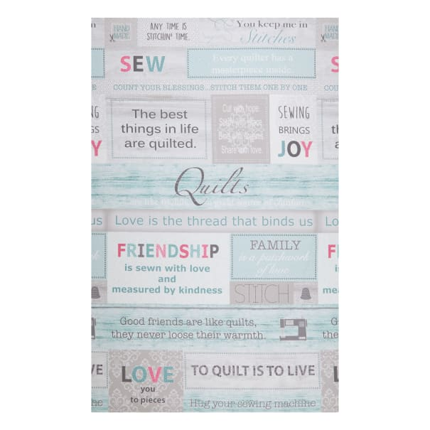 "Contempo Words To Quilt By Words To Quilt By 24"" Panel Multi"