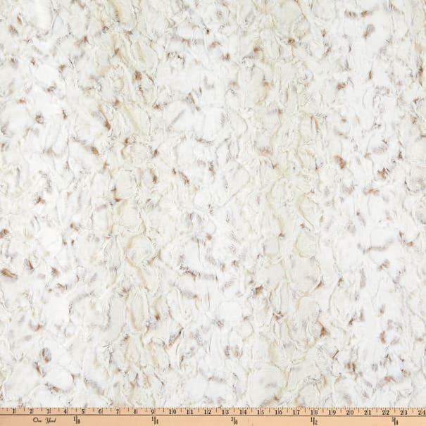 Shannon Minky Luxe Cuddle Snowy Owl Natural